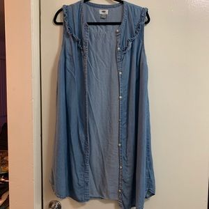 Old Navy Denim Button Down Dress